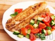 Печена бяла риба със соев сос и чесън